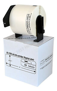 20 Rolls Dk 1202 Brother Compatible Shipping Labels With Permanent Cartridges