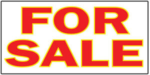 For Sale For Sale Vinyl Banner Advertising Sign Full Color 2x4 Ft 2x6 3x10