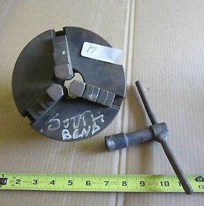 3 Jaw 6 Lathe Chuck Quick Square Key With Back Plate 1 15 16 X 8t p i