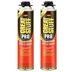 Dow Great Stuff Pro Gaps And Cracks 24 Oz Gun Foam 2 Cans 341557
