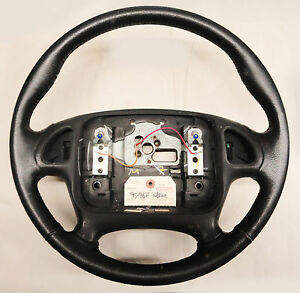95 98 Firebird Trans Am Steering Wheel For Radio Controls Leather Used 02025