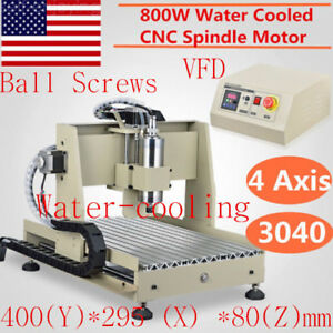 4 Axis 3040 Cnc Router Engraver 800w Vfd Milling Engraving Drilling Metal Wood