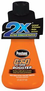 12 X 6 Oz Bottle Case Prestone 0 To 60 Octane Booster As793 Fuel Additive