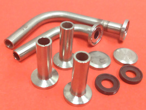 Stainless Steel Fittings W endcaps Gaskets Tri clamp Connections