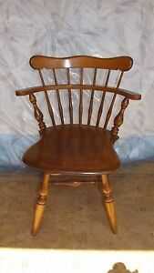 Maple Ethan Allen Swivel Early American Desk Chair Dinette Chair Or Sidechair