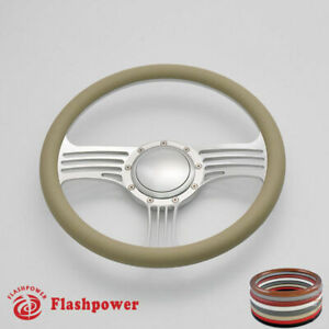 14 Billet Steering Wheels Tan Half Wrap Dodge Challenger Charger Gto Ford