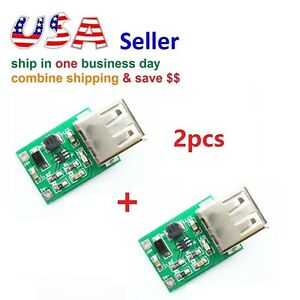 2pcs Dc 3v To 5v Usb Output Charger Step Up Power Module Dc dc Boost Converter