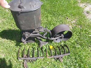 Rare Vintage Iron Age Corn Planter Cultivators With Attachments Antique