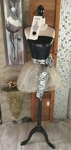 Nwt Female Body Dress Form Mannequin W Wooden Tripod Base Height Adjustable