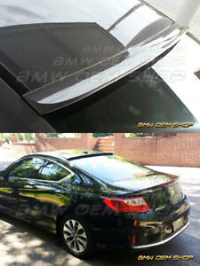 Painted Black nh 731p 2013 14 15 Honda Accord 9 Coupe K style Roof Spoiler