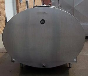 1000 Gallon Mueller Oh11455 Stainless Steel Bulk Milk Tank