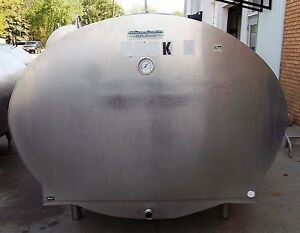 1000 Gallon Mueller Oh14052 Stainless Steel Bulk Milk Cooling Farm Tank