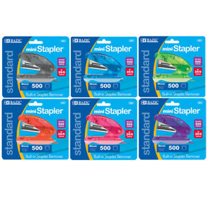 Bazic Mini Standard 26 6 Stapler W 500 Ct Staples