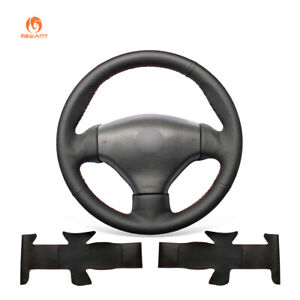 Mewant Black Leather Steering Wheel Cover For Peugeot 206 2003 206 Cc 2005
