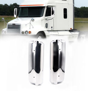 Freightliner Century Columbia 1996 2004 Chrome Mirror Cover Pair Left Right