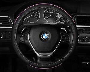Pink Black Steering Wheel Cover New Car Girl Comfortable 14 5 15 5 M