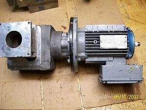 Sew Eurodrive 1hp Motor Dft80n4 With Rexroth Gearbox 3842519003 missing Fan