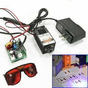 Focusable 450nm 2 5w Blue Laser Module Ttl Carving burning engraning Gift Goggle