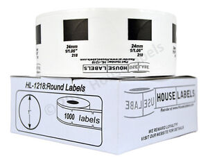 50 Rolls 1000 Labels Of Dk 1218 Brother Compatible Round Labels 1 Diameter
