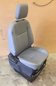 2015 Ford Transit Connect 1 Person Seat Gray Vinyl With Bracket Boat Rv Car Seat