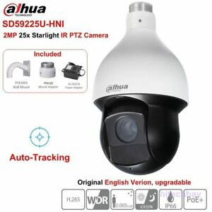 Dahua Sd59225u hni 2mp Starlight 25x Ptz Camera Ir150m Auto tracking Poe Network