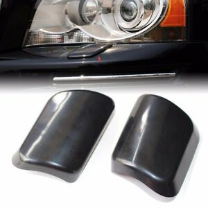 1pair Right Left Headlight Washer Nozzle Cover Cap For Volvo Xc90 2002 2006
