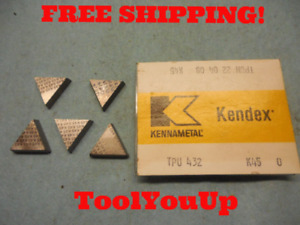 5pcs New Kennametal Tpu 432 Tpun 22 04 08 K 45 Inserts Cnc Tooling Machinist
