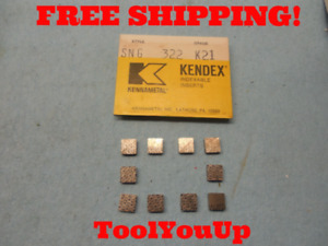 10pcs New Kennametal Sng 322 K 21 Inserts Cnc Tooling Machine Shop Tools
