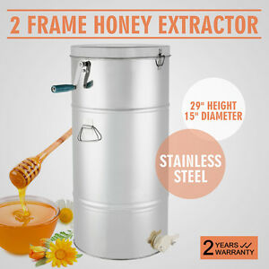 Beekeeping Supplies Stainless Steel Two 2 Frame Honey Extractor Equipment
