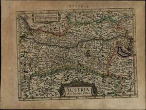 Austria Hungary Germany Eastern Europe Moravia C 1628 Mercator Minor Old Map