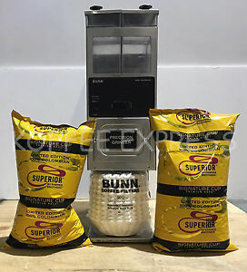 Bunn G9 Twin Hopper Coffee Grinder With 10 Lbs Free Beans 500 Cf12 Filters