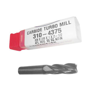 Carbide 3 8 Roughing Altin Coated Turbomill Corncob Hog Made In Usa 310 4375