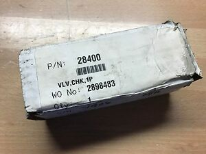 Haskel 28400 Hydraulic Check Valve 1 Npt 8000 Psi New In Box