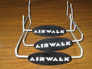 3 Retail Wire Peg Hook Wall Rack Display Stands Shoes Airwalk Name Logo Peghook