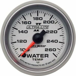 Autometer Water Temperature Gauge New 4955
