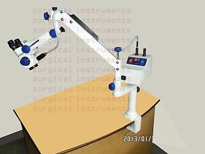 Portable Operating Ent Microscope table Clamp In Zoom Medical Healthcare
