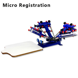 4color Screen Printing Press Micro adjust Printer Equipment Silk Screen Printing