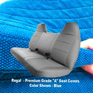 Blue Front Bench Seat Cover Molded Headrest Custom Fit F Series Automotive Thick