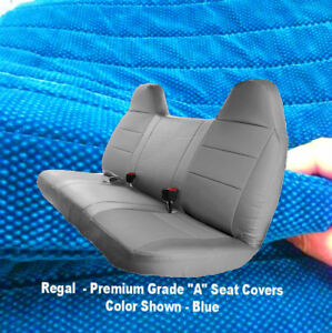 Automotive Grade F23 10mm Thick Triple Stitched Blue Bench Seat Cover