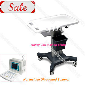 Contec Mobile Trolley Cart Moving Stand hand Push portable Ultrasound Scanner
