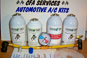R12 Compatible Refrigerant 12a Oil stopleak 1994 older Cars Recharge A c Kit