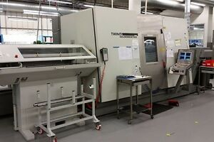 Gildemeister Twin 65b Cnc Lathe Turningcenter Dual Spindle 5 Axis Bar Feeder Dmg