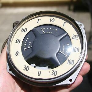 34 1934 Oldsmobile 6 8 Vintage Gauge Cluster Oil Water Temperature Fuel