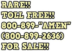 Toll Free 800 899 2636 amen For Sale Rare God Church Donations