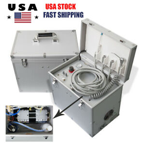 Wide Use Dental Medical Noiseless Silent Oilless Air Compressor W Led Handpiece