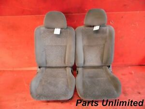 96 98 Honda Civic Oem Front Seats Assembly Stock Factory Light Gray Coupe Wear