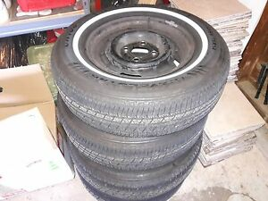 4 14 Inch Steel Wheels And P195 75r14 All Season Touring Tires