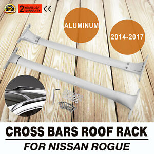 Powerful For Nissan 2014 2017 Rogue Roof Rack Cross Bar Luggage Carrier Rail Set