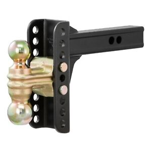 Curt 45900 Adjustable Channel Mount With 2 2 5 16 Dual Trailer Ball