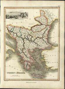Turkey In Europe Greece Balkans Constantinople View 1819 Thomson Antique Old Map